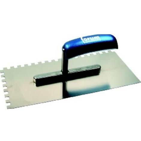 Platoir,acier inoxydable, denture carrée, Denture : 8 x 8 mm, Dimensions 280 x 130 mm