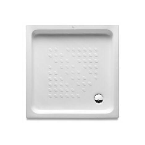 Platos de ducha blanco de porcelana ITALIA - ROCA - Medidas: 900x900x80