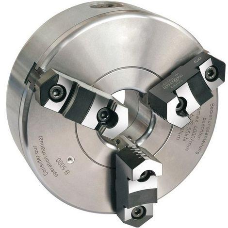 Platos de torno con tres mordazas de fundición tamaño Ø : 160 mm, Ø perforación 42 mm, velocidad máx. 4600 tr/mn, rotación : 110 N·m, Fuerza de sujeción : 47 kN