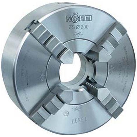 Platos de torno con tres mordazas DIN 6350 ZG, tamaño Ø : 125 mm, Ø perforación 32 mm, velocidad máx. 5500 tr/m