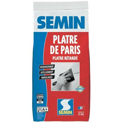 Plâtre de Paris pour moulages, scellements et rebouchage Semin - intérieur - sac de 5 kg