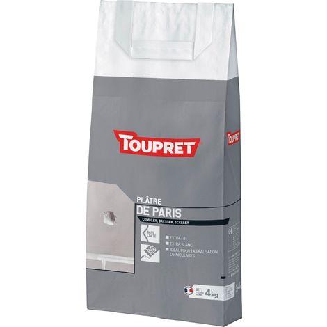 Plâtre de Paris Toupret - 4 kg - Extra blanc