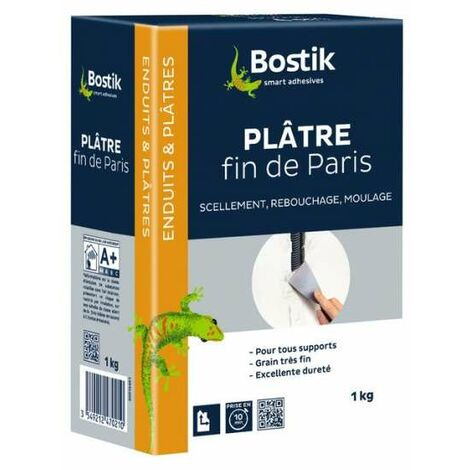 Plâtre fin de Paris Boîte 1 kg - Bostik