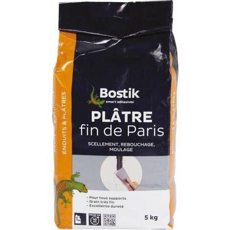 Plâtre fin de Paris Sac 5 kg - Bostik