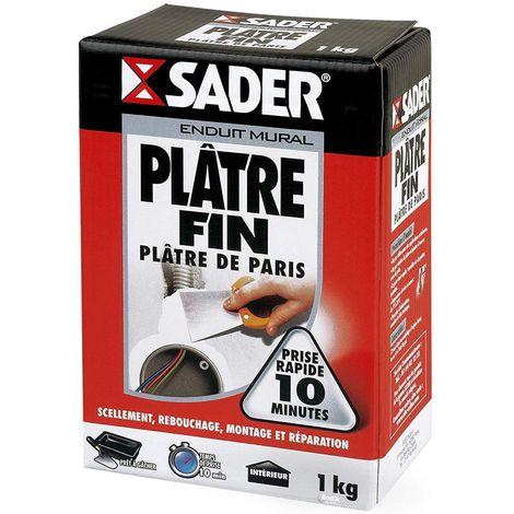 Plâtre fin en poudre Sader 1kg