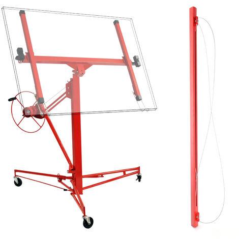 Plattenheber XXL Set Montagehilfe XXL 350 cm + 140 cm Verlängerung bis max 465 cm und 68 kg
