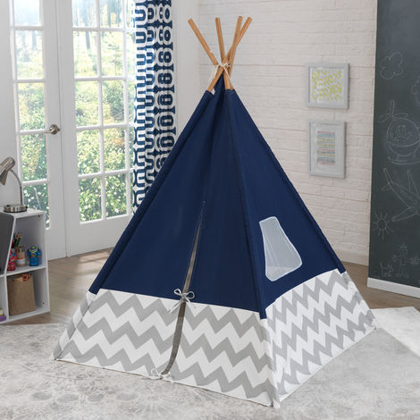 Play TeePee - Navy with Gray & White Chevrons