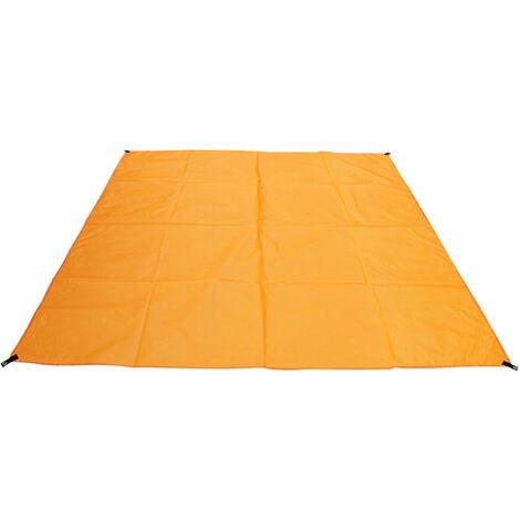 Playa al aire libre Manta impermeable capa de picnic resistente Esterilla para la playa de arena de peso ligero, con bolsa de almacenamiento, para Camping Jardin barbacoa, 210 * 200 cm, naranja, Tipo 2