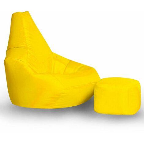 Player Combo Bean Bag with Foot Stool - Orange