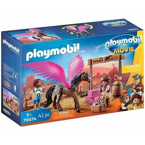 PLAYMOBIL 70074 - PLAYMOBIL THE MOVIE Marla et Del avec cheval ailé