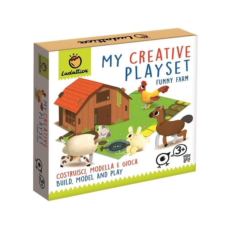 Lgvshopping Playset Gioco Creativo da Tavolo per Bambini Costruisci Modella Gioca Fattoria