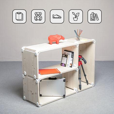 Mobili A Giorno Componibili.Playwood Kit Mobile A Giorno Con 3 Scomparti Componibili 24