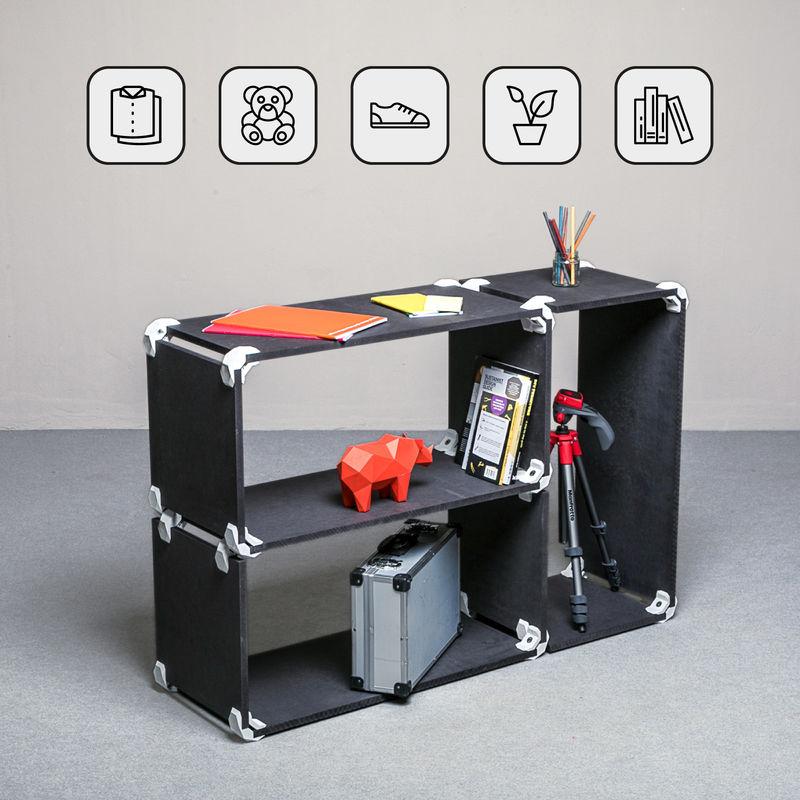 Mobili A Giorno Componibili.Playwood Kit Mobile A Giorno Con 3 Scomparti Componibili In Mdf