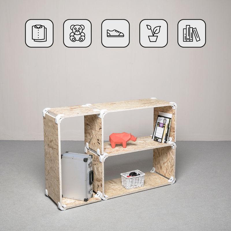 Mobili A Giorno Componibili.Playwood Kit Mobile A Giorno In Osb 3 3 Scomparti Componibili