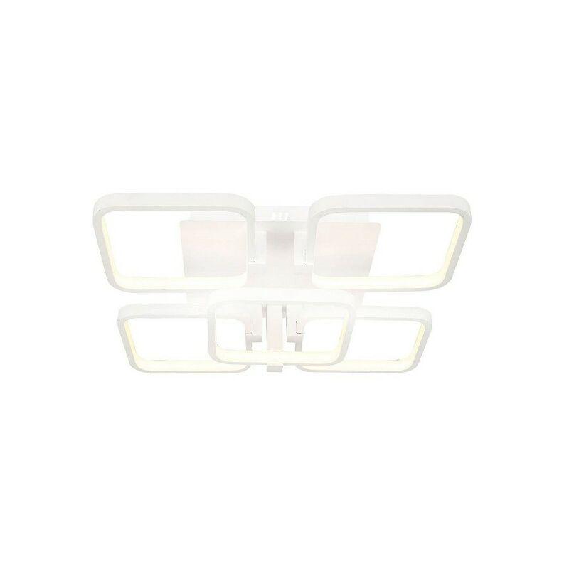 Homemania - Plaza Deckenlampe - Deckenleuchte - Quadratisch - von Wall - Weiss aus Metall, Acryl, 48 x 48 x 12 cm, 1 x LED, 120W, 12600LM, 4200K