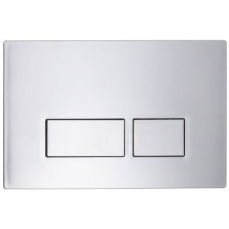 Plaza Dual Flush Push Plate - Chrome
