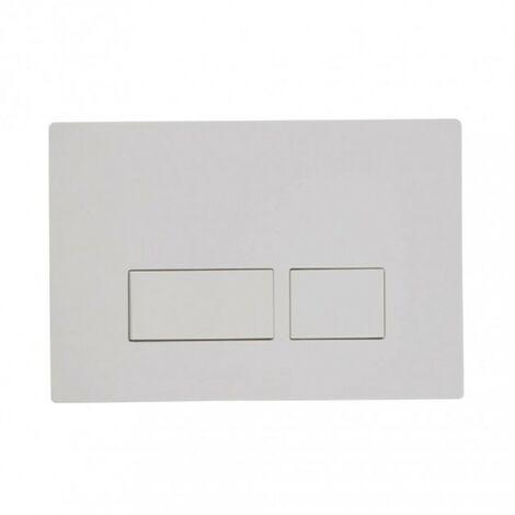 Plaza Dual Flush Push Plate - White