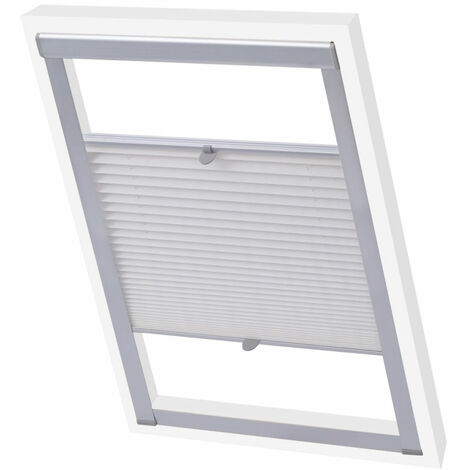 Pleated Blinds White C02