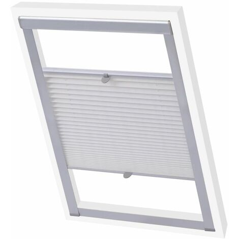 Pleated Blinds White F06