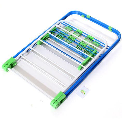 Plegable 2tier Metal Ropa Secadora Estante Ropa de cama Ropa de cama Secadora Interior al aire libre