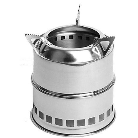Plegable camping estufa de lena de acero inoxidable portatil de cocinar al aire libre estufa de lena Calentador de Senderismo Pesca de picnic barbacoa