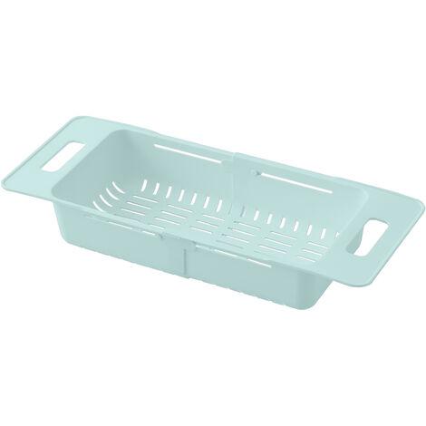 Plegable colador sobre fregadero fregadero ajustable Cesta vegetal Frutas drenaje de la cesta del fregadero de cocina extensible colador placa de secado cesta, azul