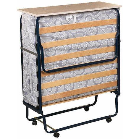 Plegatin-Cama somier plegable con colchón espuma | 90x190cm