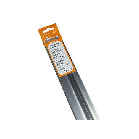 Pletina ceramic inox 4,0x83cm adhesiva