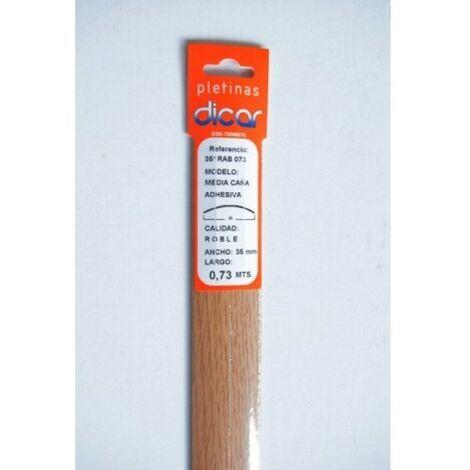 Pletina perf 73x3,5mm 1/2c adh inox rob dicar