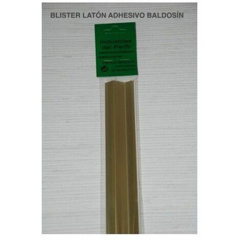 Pletina Perfilada 93X4Mm Distinto Nivel Adhesivo Inox Laton
