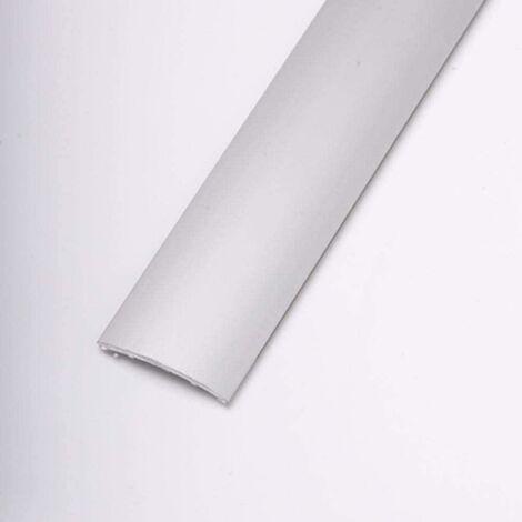 Pletina Perfilada Media Caña Adhesivo 83Cm Aluminio Plata Media Caña Dicar