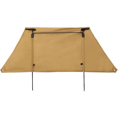 Pliable Camping En Plein Air Pare-Brise Coupe-Vent Flanc Partition Portable Mur Coupe-Vent En Toile Tableau Ecran Brise-Vent