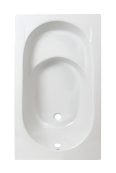 Plieger Baignoire Assise Synthétique 120x70cm Avec Pieds Blanc 940046