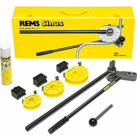 Plieur manuel de tubes- Set Rems Sinus Set 15-18-22 dans une Mallette en tole d'acier solide