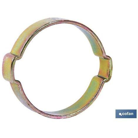 PLIMPO abrazadera dos orejas 3-5 caja 500 unid.