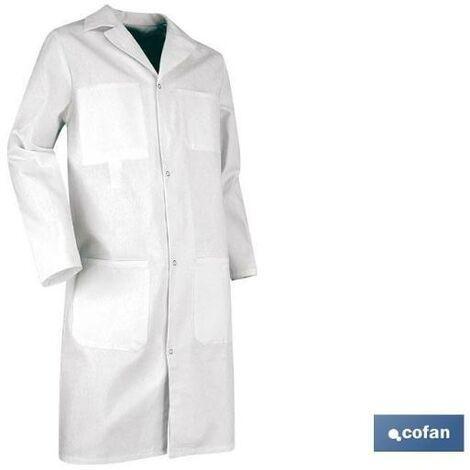 PLIMPO bata blanca palette 100% algodón t-l