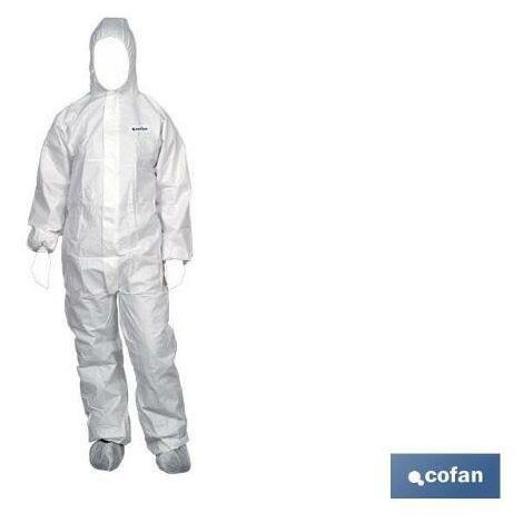 PLIMPO buzo c/capucha tipo 4, 5 y 6 blanco talla xl