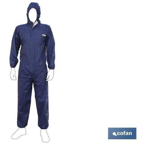 PLIMPO buzo con capucha tipo 4, 5 y 6 azul talla xxl