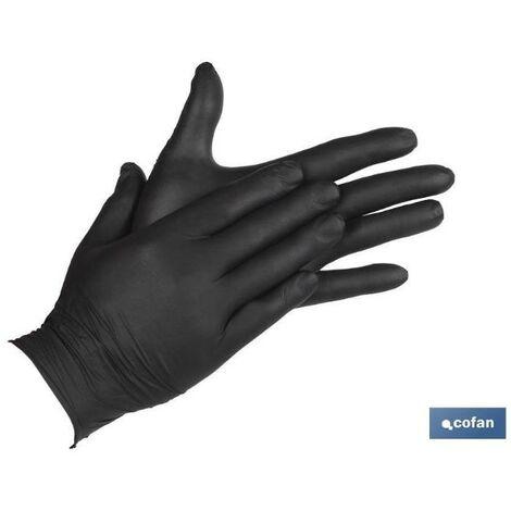 PLIMPO caja 100 unds. guantes de nitrilo negro t - m