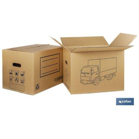 PLIMPO caja carton mudanza asa troquel. 40x30x30cm caja 10 unid.