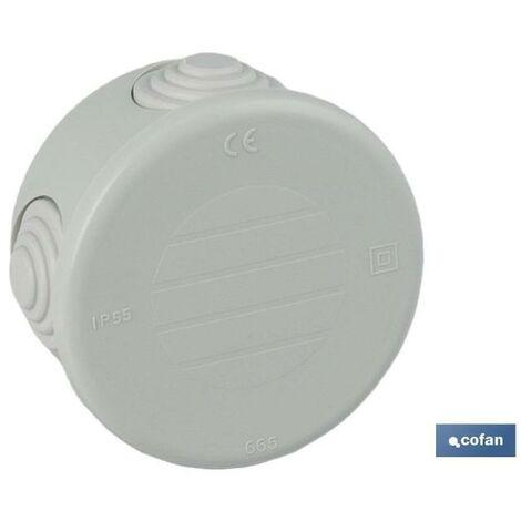 PLIMPO caja estanca con conos cierre con tapa a presión ø70x35