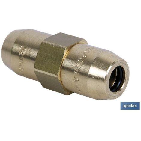 PLIMPO conector doble r tubo 10x1-10x1