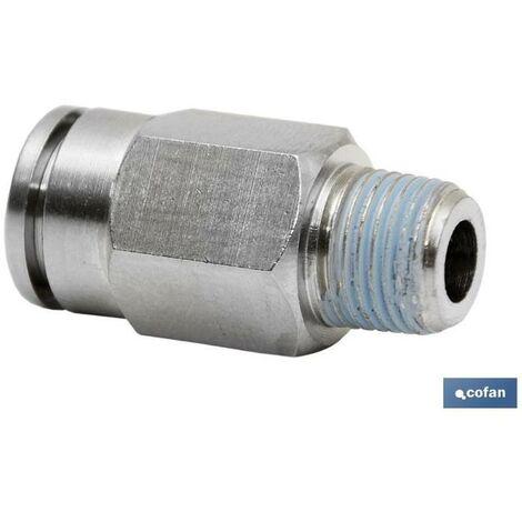 PLIMPO conexion recta tubo 6mm. macho 1/8 caja 5 unid.