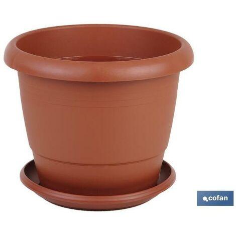 PLIMPO maceta marron modelo gardenia 35x28.8+ plato28cm caja 6 unid.