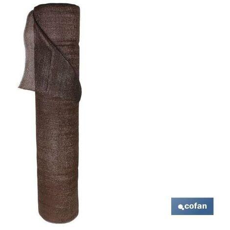 PLIMPO malla ocultación marrón 90% / 120 grs - 1 x 50 mts