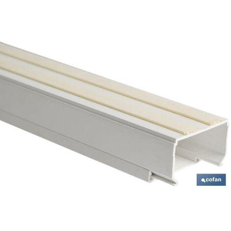 PLIMPO minicanal recto adhesivo 2m 12x12 caja 6 unid.