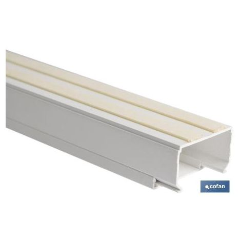 PLIMPO minicanal recto adhesivo 2m 25x25 caja 3 unid.