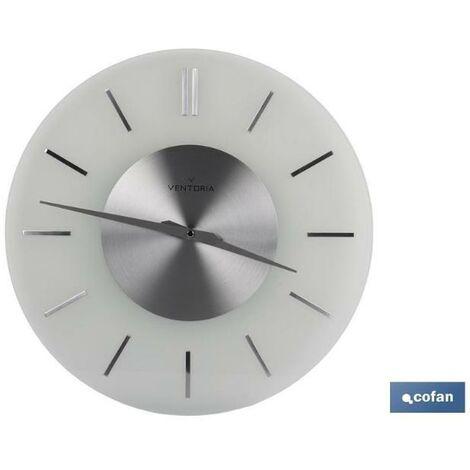 PLIMPO reloj de pared ø40cm cristal mod. tempio