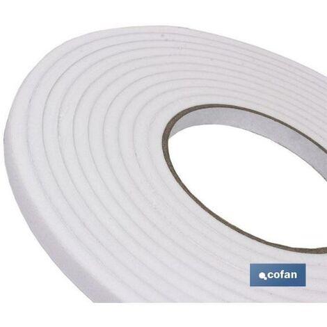 PLIMPO rollo burlete adhesivo espuma blanca 45mx9mm caja 6 unid.