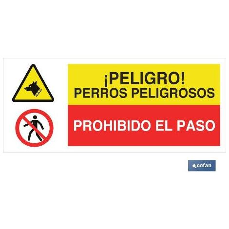 PLIMPO señal poliestireno 1,5mm 717x297 combinada peligro/prohibición